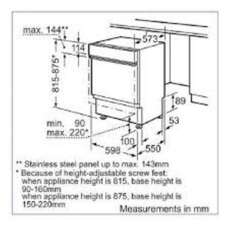 מדהים מדיח כלים רחב חצי אינטגרלי דגם SMI53N75IL בוש Bosch | קרייזמן IC-53